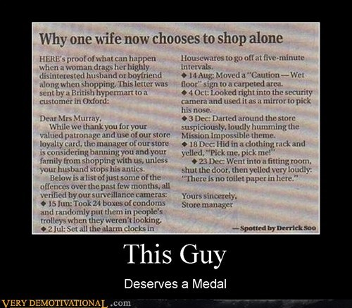 hilarious jerk medal shopping this guy