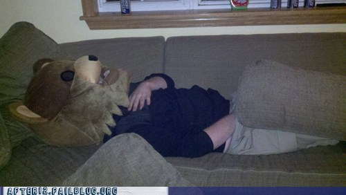 costume,passed out,pedobear,prank