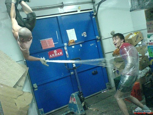 DIY only in russia saran wrap Spider-Man super hero - 5972340736
