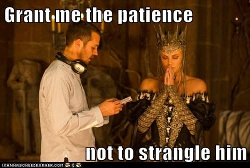 charlize theron,patience,queen,snow white and the huntsman,stangle