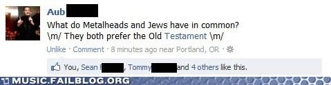 bible facebook joke metal pun - 5972457728