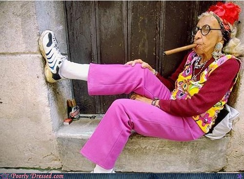 cigar IDGAF old people rock - 5972500736