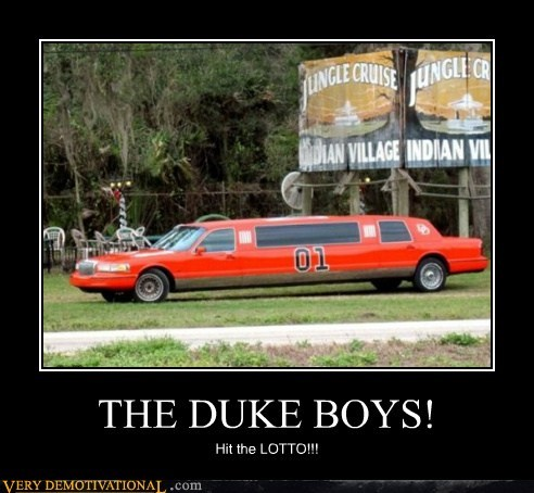 dukes of hazard,general lee,hilarious,lottery,rich