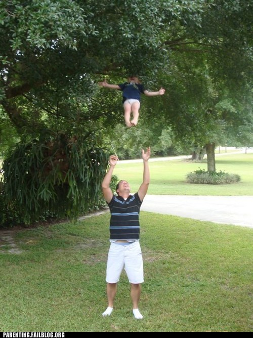 glasses,throwing kid in the air