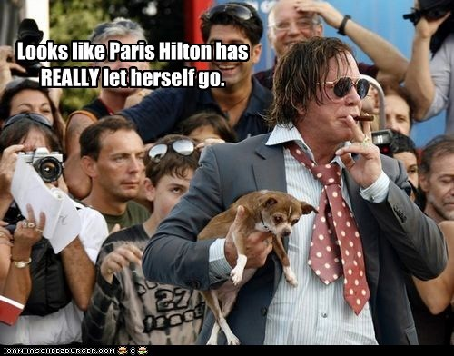 actor,celeb,funny,mickey rourke,paris hilton