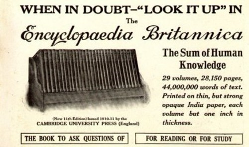 Encyclopaedia Britannica,End Of An Era,sign of the times,wikipedia