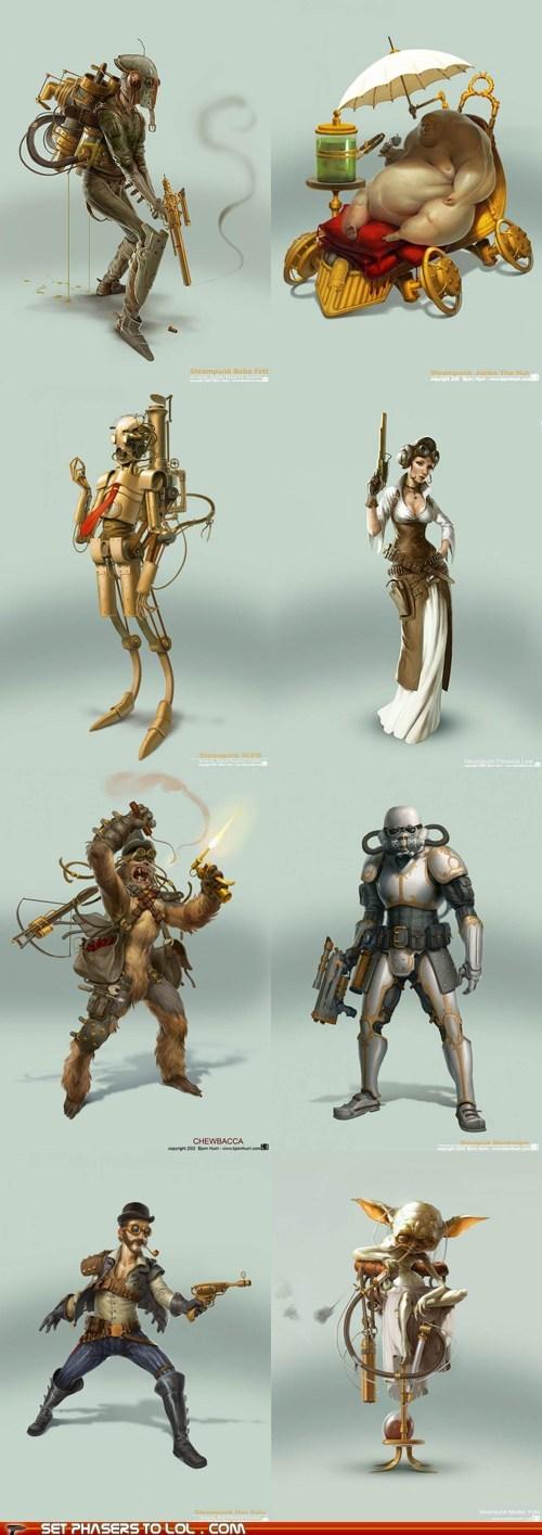 art best of the week boba fett c3p0 chewbacca Han Solo jabba the hutt Princess Leia star wars Steampunk stormtrooper yoda - 5972723200