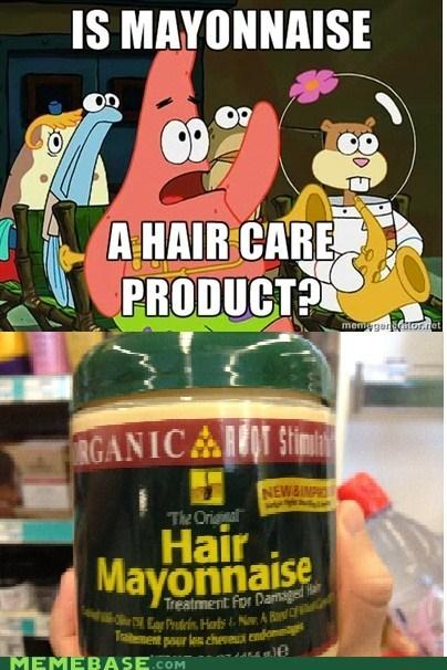 hair,mayonnaise,Memes,patrick,product,SpongeBob SquarePants