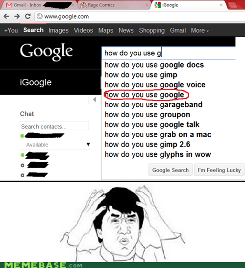 brain is full google Jackie Chan meme madness Rage Comics submit - 5972820480
