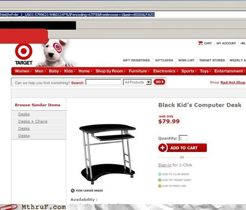 apostrophe black kid furniture office furniture Target - 5972951296