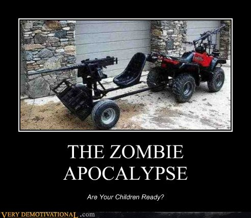 apocalypse,children,hilarious,ready,zombie