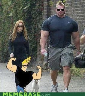 cartoons,hey mama,johnny bravo,Memes,muscles