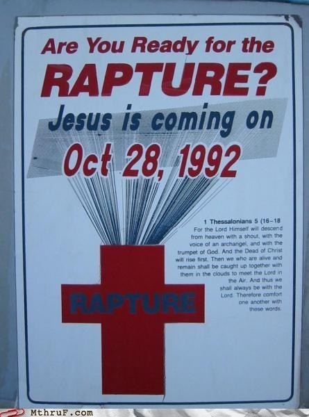 1992 christian jesus RAPTURE sign