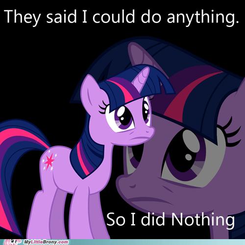 do nothing meme paranoid twilight sparkle - 5973096448