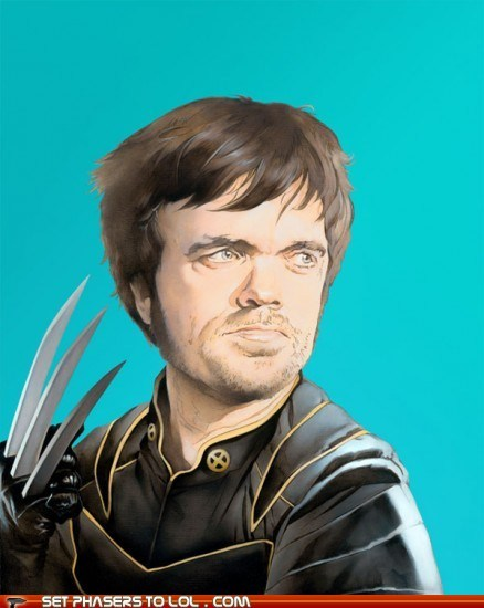 Fan Art,Game of Thrones,peter dinklage,tyrion lannister,wolverine,x men