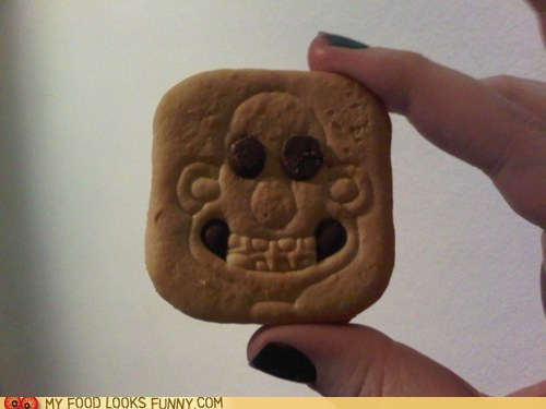 chocolate cookies face Terrifying wallace and gromit - 5973239296
