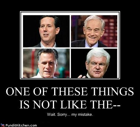 Mitt Romney,newt gingrich,political pictures,Republicans,Rick Santorum,Ron Paul
