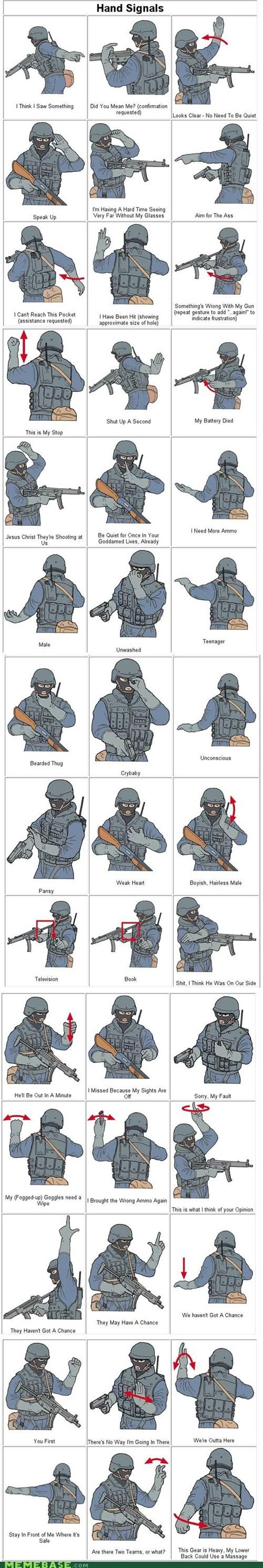 hand signals Memes swat swat team - 5973655552