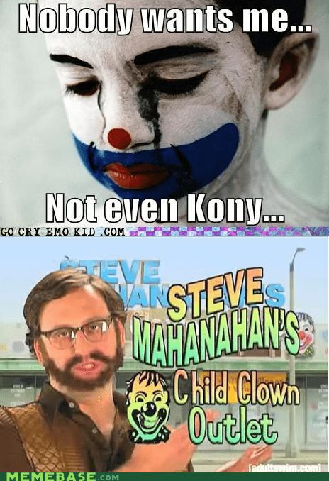 clown emolulz First World Problems kony 2012 - 5973702656