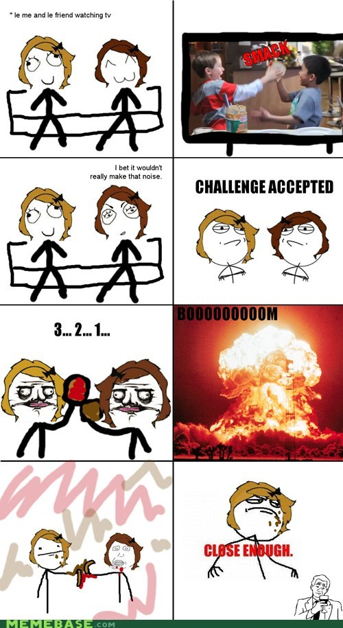 Challenge Accepted Close Enough food peanut butter and jelly Rage Comics