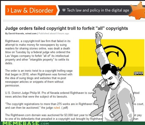 copywright,court,freddie mercury,judge,Rage Comics