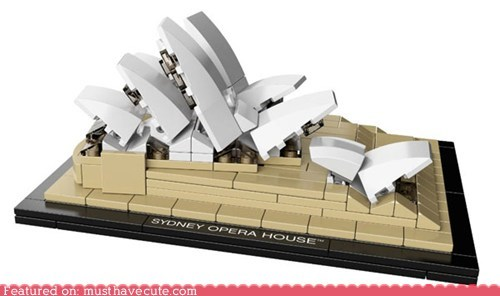architect blocks build lego model set sydney opera house - 5974333184