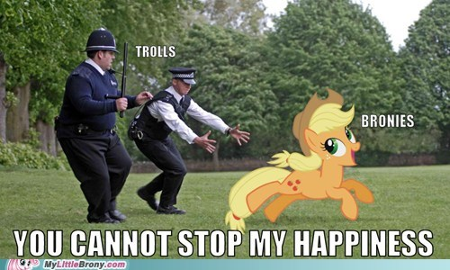 applejack,Bronies,happy,love and tolerate,meme,trolls