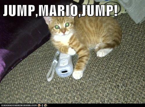 cat mario jump
