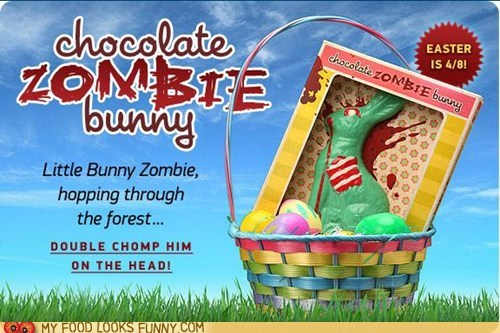 best of the week,brains,bunny,chocolate,easter,green,zombie