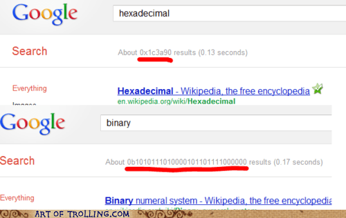 binary easter egg google hexadecimal - 5976392960