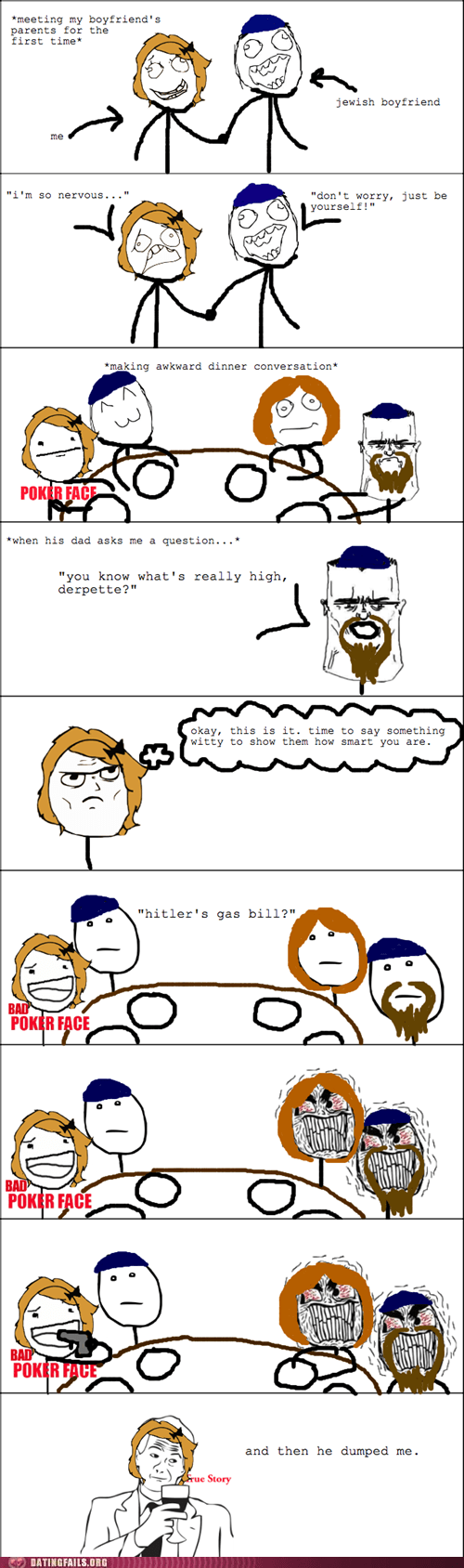 bad jokes,jewish parents,meeting the parents,Rage Comics
