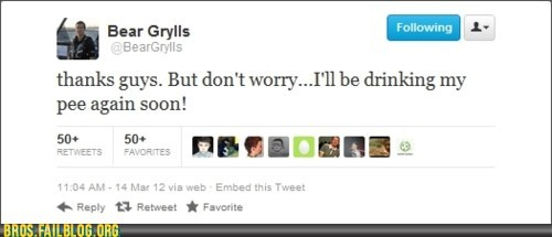 bear grylls,fired,tweet,twitter