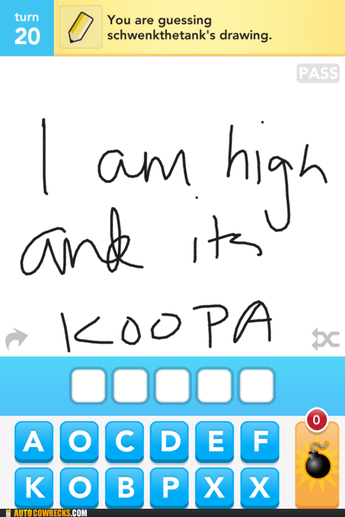 draw something drugs high koopa mario nintendo