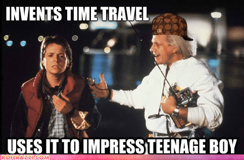 back to the future,christopher lloyd,funny,meme,michael j fox,Movie,scumbag