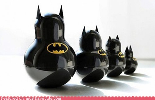 batman black Matryoshka nesting dolls shiny