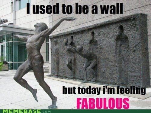 fabulous Memes run statue wall - 5976866304