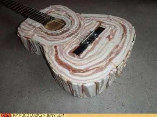 acoustic,bacon,guitar,raw
