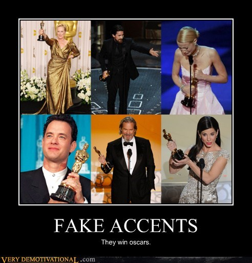 actress fake accent hilarious oscar