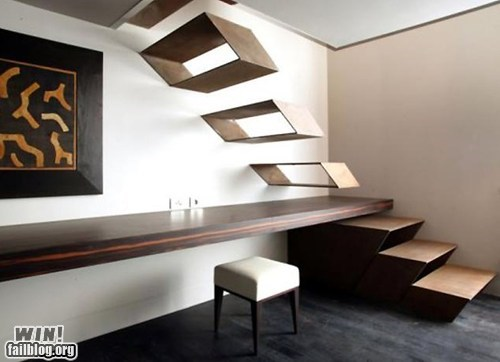 design floating impractical stairs