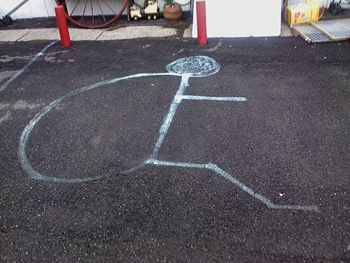 handicapped parking lot parking spot turtle - 5977285120