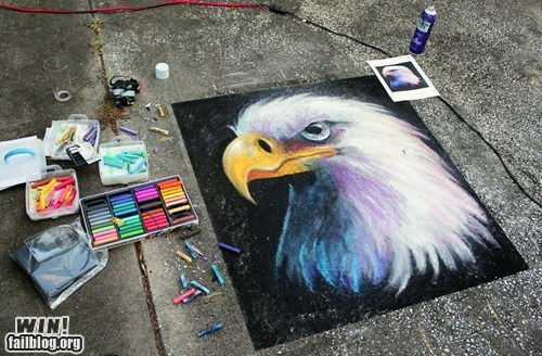 chalk chalk art eagle - 5977286400