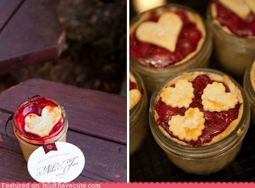epicute hearts individual jar pie