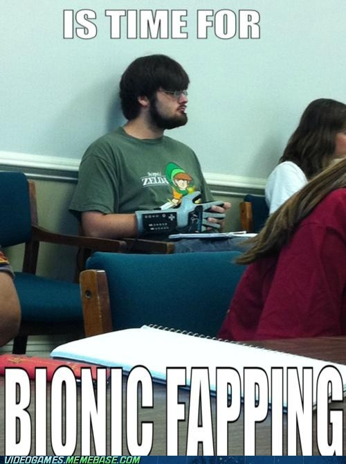 bionic fapping,IRL,power glove,school,zelda