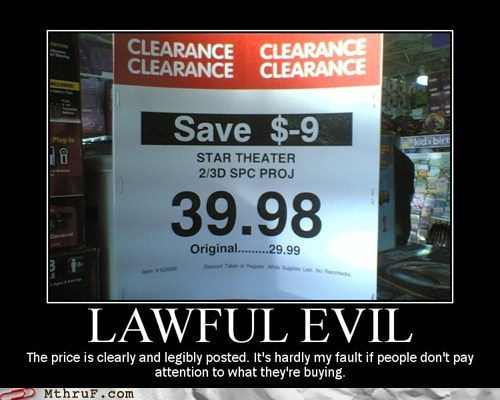clearance,clearance sale,lawful evil,pay more,sale