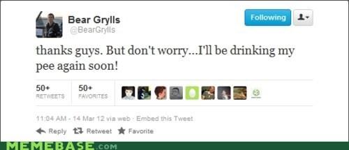 bear grylls career tweet
