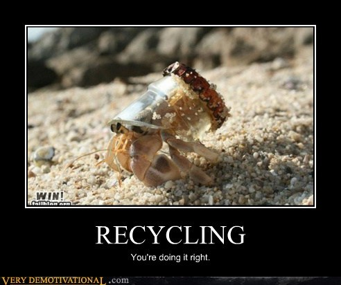 crab,hilarious,recycling,right