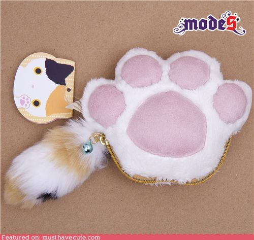 cat pads paw toes wallet - 5978963456