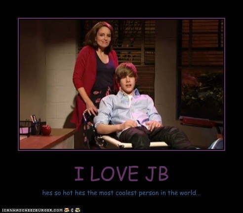 I LOVE JB hes so hot hes the most coolest person in the world...