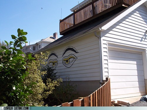 eyes,garage,painting