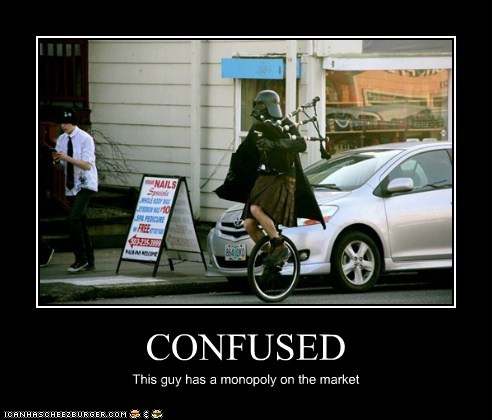 bagpipes confused darth vader kilt may the fourth monopoly portland star wars Star Wars Day unicycle - 5979727360